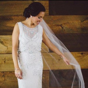 Another client of mine, in her beautiful gown on her gorgeous winter wedding day...